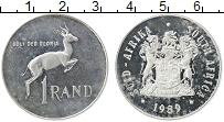 Изображение Монеты ЮАР 1 ранд 1989 Серебро Proof- Антилопа