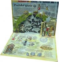 Изображение Подарочные монеты Чехия Пражский грош 2019 Серебро UNC Сувенирный жетон в в