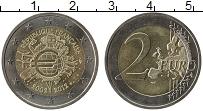 Изображение Монеты Франция 2 евро 2012 Биметалл UNC- 10 лет наличному обр