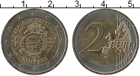 Изображение Монеты Австрия 2 евро 2012 Биметалл UNC- 10 лет наличному обр