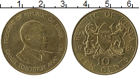 Изображение Монеты Кения 10 центов 1986 Латунь XF Даниэль Тороитич Ара
