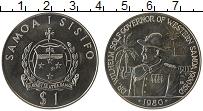 Изображение Монеты Самоа 1 доллар 1980 Медно-никель UNC Доктор Вильгельм Сол