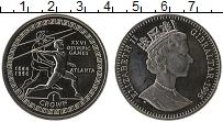 Изображение Монеты Гибралтар 1 крона 1995 Медно-никель Proof- Елизавета II. 100-ле