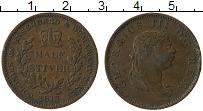 Изображение Монеты Великобритания Эссекуибо и Демерара 1/2 стивера 1813 Медь XF