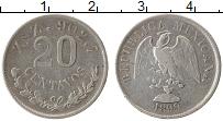 Изображение Монеты Мексика 20 сентаво 1899 Серебро XF-
