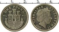 Изображение Мелочь Гибралтар 1 фунт 2000 Латунь UNC
