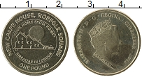 Изображение Монеты Гибралтар 1 фунт 2018 Латунь UNC- Елизавета II. Дом Ги