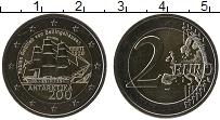 Изображение Мелочь Эстония 2 евро 2020 Биметалл UNC 200 лет со дня откры