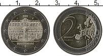 Изображение Мелочь Германия 2 евро 2020 Биметалл UNC