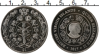 Изображение Монеты Виргинские острова 1 доллар 2017 Медно-никель UNC 70 лет свадьбы Корол