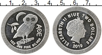 Изображение Монеты Ниуэ 2 доллара 2019 Серебро Proof-