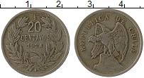 Изображение Монеты Чили 20 сентаво 1924 Медно-никель XF-