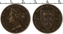 Изображение Монеты Остров Джерси 1/24 шиллинга 1888 Бронза XF Виктория