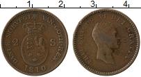 Изображение Монеты Дания 2 скиллинга 1810 Медь XF Фредерик VI