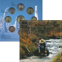 Изображение Подарочные монеты Финляндия Годовой набор евро 2003 2003  UNC Чеканка монет посвящ