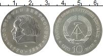 Изображение Монеты ГДР 10 марок 1970 Серебро UNC- Людвиг ван Бетховен