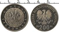 Изображение Монеты Польша 200 злотых 1986 Медно-никель UNC- Сохранение дикой при