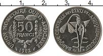 Изображение Монеты Западная Африка 50 франков 1982 Медно-никель UNC-