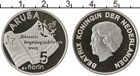 Изображение Монеты Аруба 5 флоринов 2005 Серебро Proof