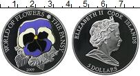 Изображение Монеты Острова Кука 5 долларов 2009 Серебро Proof Цифровая печать. Ели