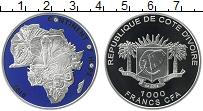 Изображение Монеты Африка Кот-д`Ивуар 1000 франков 2010 Серебро Proof