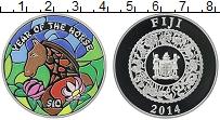 Изображение Монеты Фиджи 10 долларов 2014 Серебро Proof