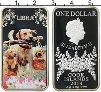 Изображение Монеты Острова Кука 1 доллар 2014 Серебро Proof-