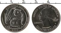Изображение Мелочь США 1/4 доллара 2020 Медно-никель UNC S. Национальный парк