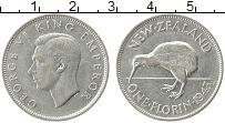 Изображение Монеты Новая Зеландия 1 флорин 1943 Серебро XF