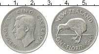 Изображение Монеты Новая Зеландия 1 флорин 1945 Серебро XF