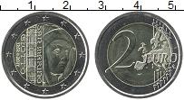Изображение Монеты Сан-Марино 2 евро 2017 Биметалл UNC 750 лет со дня рожде