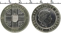 Изображение Монеты Гернси 2 фунта 2003 Биметалл UNC Елизавета II.