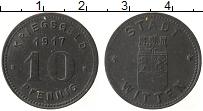 Изображение Монеты Германия : Нотгельды 10 пфеннигов 1917 Цинк XF Виттен