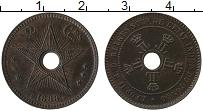 Изображение Монеты Бельгийское Конго 2 сантима 1888 Бронза XF Леопольд II