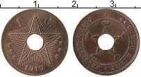 Изображение Монеты Бельгийское Конго 1 сантим 1919 Бронза XF Альберт I