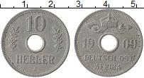 Изображение Монеты Немецкая Африка 10 геллеров 1909 Медно-никель VF+