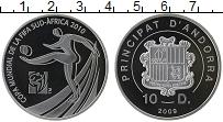 Изображение Монеты Андорра 10 динерс 2009 Серебро Proof Чемпионат Мира по фу