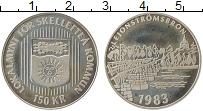 Изображение Монеты Швеция 150 крон 1983 Серебро Proof- Городские деньги
