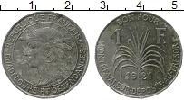 Изображение Монеты Северная Америка Гваделупа 1 франк 1921 Медно-никель VF