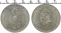 Изображение Монеты Франция Новые Гебриды 100 франков 1966 Серебро XF