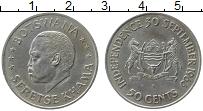 Продать Монеты Ботсвана 50 центов 1966 Серебро