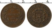Изображение Монеты Люксембург 2 1/2 сантима 1908 Бронза XF