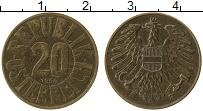 Изображение Монеты Австрия 20 грош 1954 Латунь XF