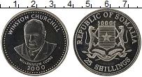 Изображение Монеты Сомали 25 шиллингов 2000 Медно-никель UNC Уинстон Черчиль