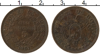 Изображение Монеты Боливия 5 боливан 1951 Бронза XF