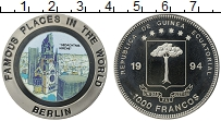 Изображение Монеты Экваториальная Гвинея 1000 франков 1994 Медно-никель UNC Мировые дворцы.Берли
