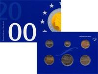 Изображение Подарочные монеты Нидерланды Набор монет 2000 года 2000  AUNC Набор монет Нидерлан