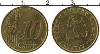 Продать Монеты Монако 10 евроцентов 2001 Латунь