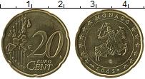Продать Монеты Монако 20 евроцентов 2003 Латунь