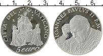 Изображение Монеты Ватикан 5 евро 2003 Серебро Proof Год чёток
